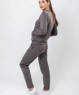 Женские домашние брюки из вискозы с карманами