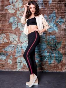 Последний товар!!! Женские спортивные леггинсы для фитнеса с красными полосками