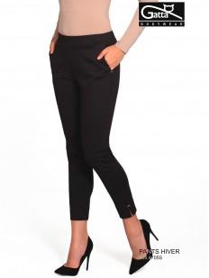 Женские зауженные брюки из вискозы с боковыми карманами