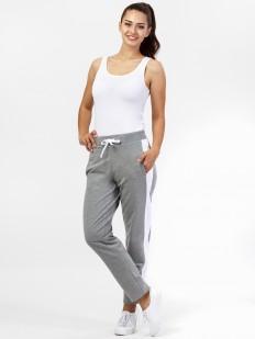 Женские спортивные домашние брюки с лампасами и карманами