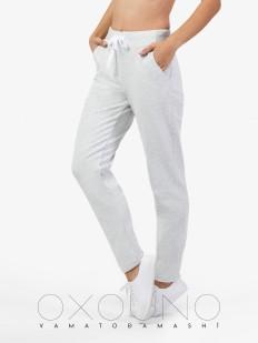 Хлопковые женские домашние брюки с карманами