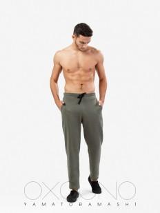 Спортивные мужские домашние штаны из хлопка хаки