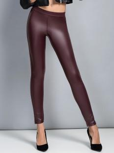 Цветные кожаные женские леггинсы с эффектом блеска
