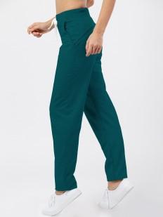 Спортивные женские зеленые брюки свободного кроя