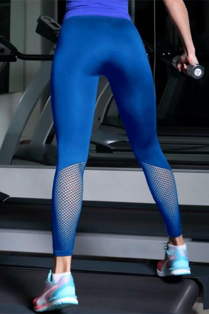 Женские спортивные якрие легинсы с сеткой на голени GIULIA LEGGINGS SPORT RETE