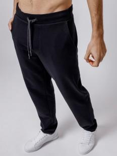 Спортивные черные мужские штаны свободного кроя