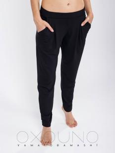 Женские домашние черные брюки бананы из вискозы