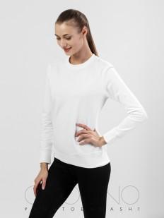 Женская однотонная футболка лонгслив из хлопка