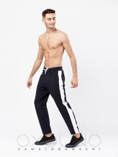 Хлопковые мужские спортивные штаны черные