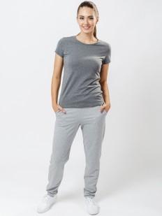 Женские спортивные серые штаны свободного кроя