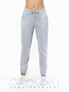 Хлопковые женские домашние брюки в спортивном стиле