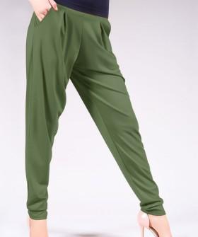 Женские цветные летние брюки бананы с широким поясом