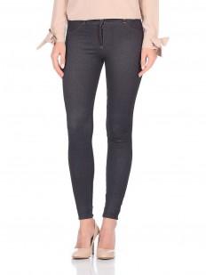 Женские джинсовые леггинсы с карманами и молнией