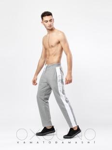 Мужские спортивные домашние брюки хб серые