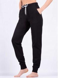 Женские домашние хлопковые брюки черные