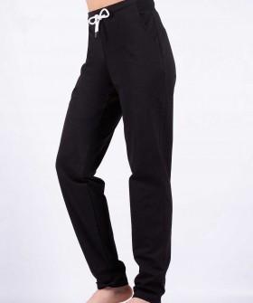 Женские хлопковые домашние черные брюки