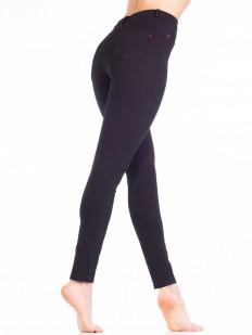 Женские хлопковые брюки леггинсы с накладными карманами