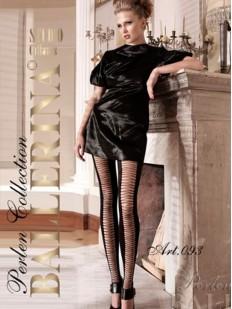 Фантазийные женские легинсы с просветным узором разрезы