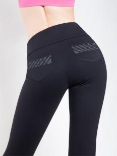 Женские брюки леггинсы из вискозы с задними карманами