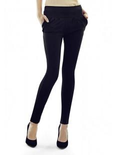 Женские хлопковые брюки леггинсы с боковыми карманами
