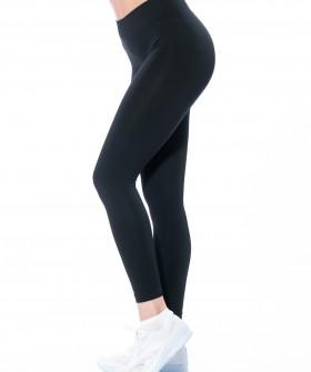 Черные спортивные женские лосины для фитнеса