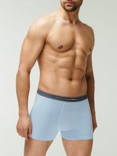 Классические мужские трусы боксеры светло-голубые с добавлением модала