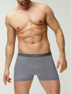 Классические мужские трусы боксеры серые с добавлением модала