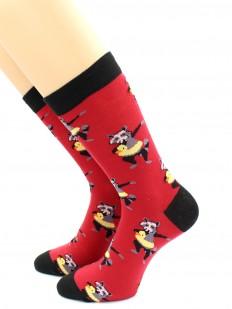 Хлопковые прикольные носки унисекс с енотами