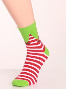 Высокие мужские новогодние носки в полоску