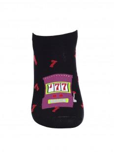 Летние мужские укороченные носки с принтом игровые автоматы