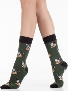 Хлопковые принтованные носки унисекс с собачками