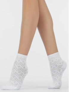 Ажурные женские хлопковые носки с перфорированным рисунком