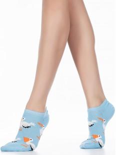 Короткие женские летние носки с пеликанами