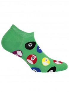 Летние мужские зеленые носки с ярким принтом бильярд