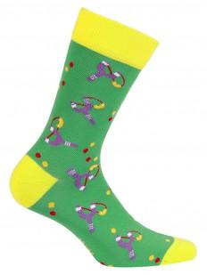 Прикольные зеленые мужские носки с рисунком
