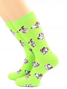 Всесезонные яркие носки унисекс с собачкой корги