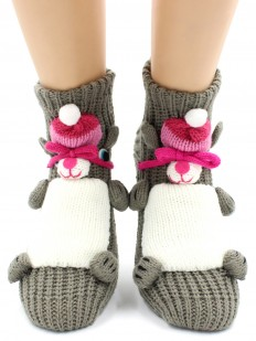 Вязаные носки Hobby Line 090