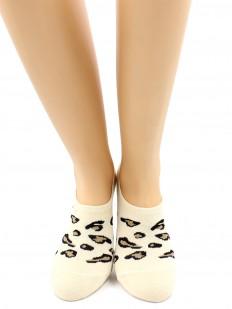 Летние женские укороченные носки с леопардовым принтом