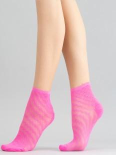Неоновые женские носки с геометрическим узором шашечки