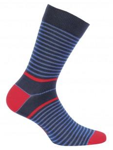 Высокие хлопковые мужские носки в полоску