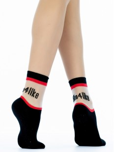 Высокие женские модные носки с хэштегом like4like