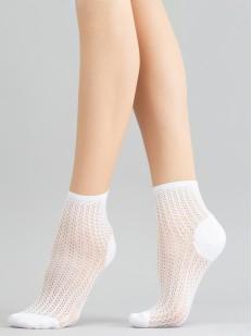 Ажурные женские носочки с просветным узором