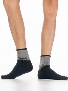 Теплые мужские носки с шерстью ангоры и рисунком верблюд