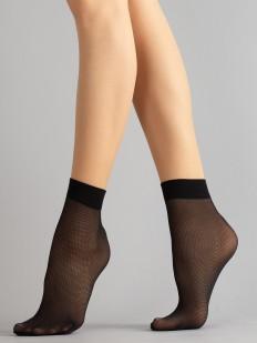 Капроновые женские носки в мелкую тюлевую сеточку