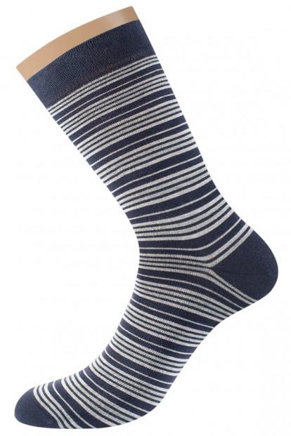 Хлопковые мужские носки в полоску Omsa for men STYLE 503 - фото 1
