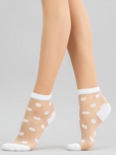 Прозрачные женские носки с пятнистым рисунком