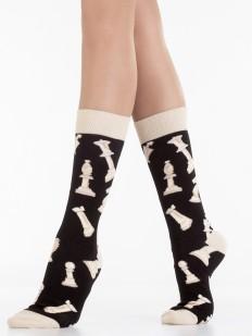 Оригинальные носки унисекс из хлопка с шахматным принтом