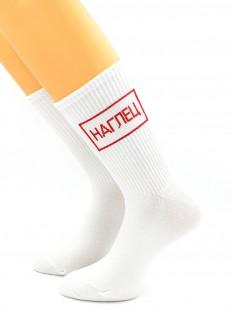 Мужские высокие носки в подарок с надписью НАГЛЕЦ