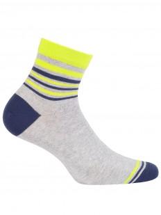 Хлопковые цветные мужские носки с полосками