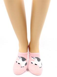 Короткие женские хлопковые носки с единорогом